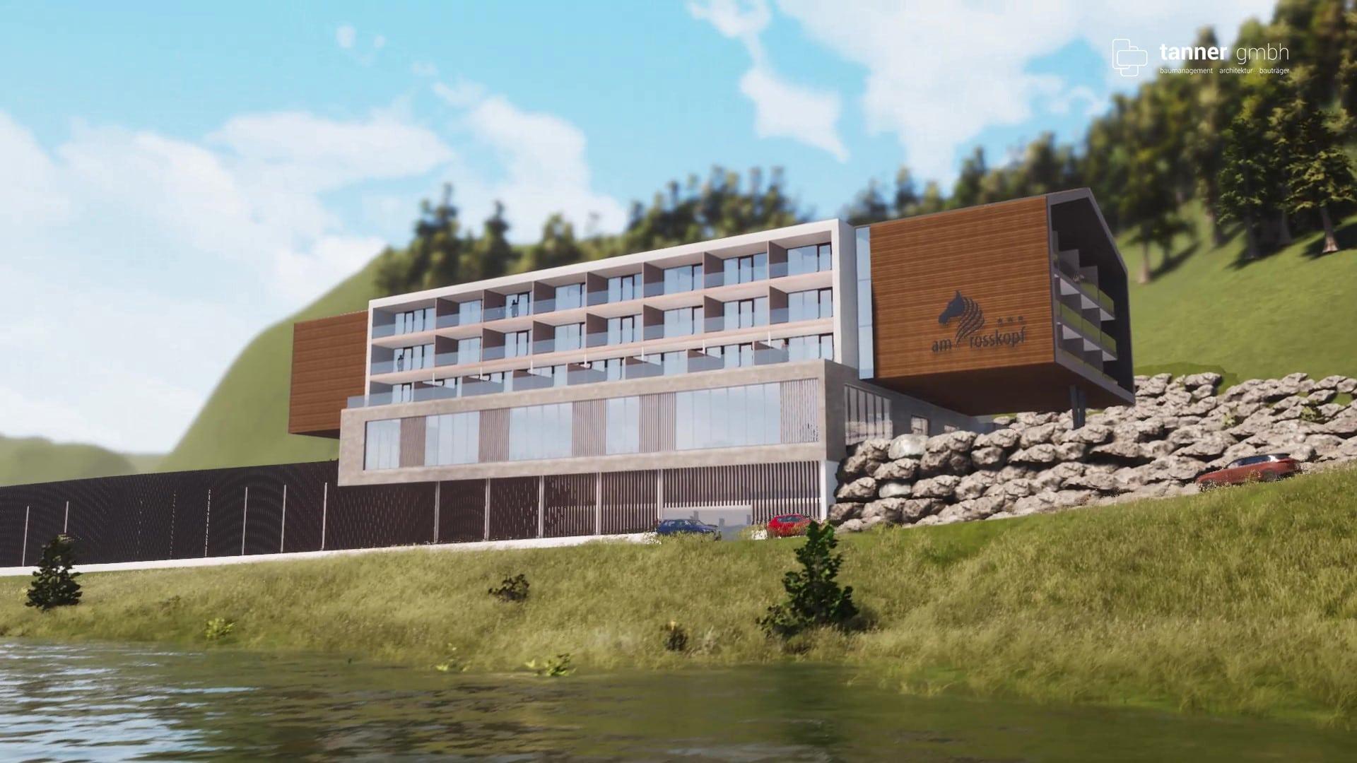 Computer Render: Hotel Roßkopf Zauchensee